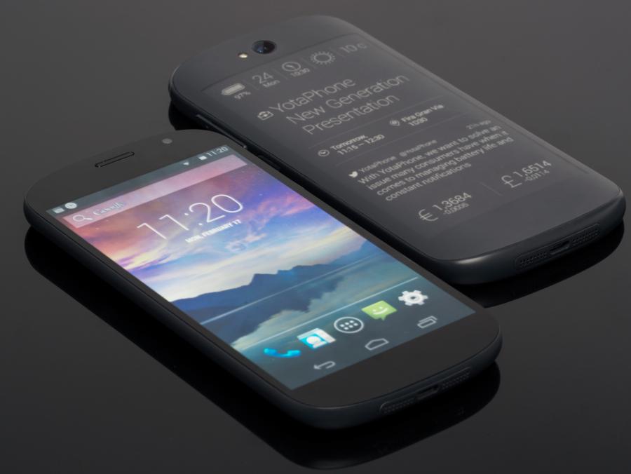 Два экрана на телефоне Йотафон 3