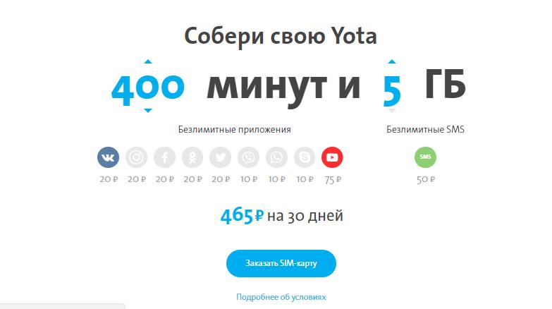 Обзор выгодных тарифов от Йота в Крыму