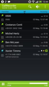 программа CallRecorder для записи разговоров на андроид