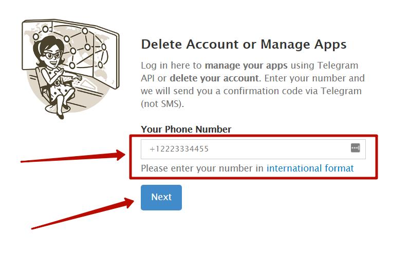 Удалить Телеграм с телефона
