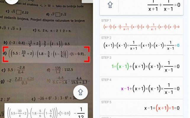 Приложения для решения математики по фото онлайн