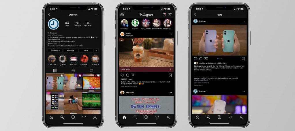 Как сделать темную тему Instagram на Айфоне