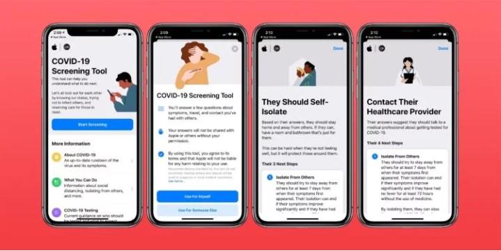 Приложение для айфона по коронавирусу Apple COVID-19