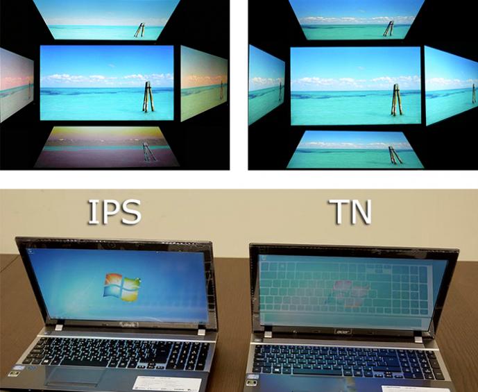 Какая матрица для ноутбука лучше: сравнение TN и IPS