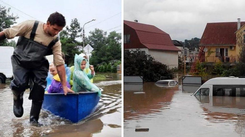 Снова Краснодарский край затапливает - продолжаются ливни и потопы на Кубани